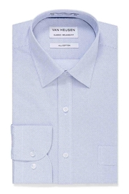 VAN HEUSEN Blue Self Stripe Shirt