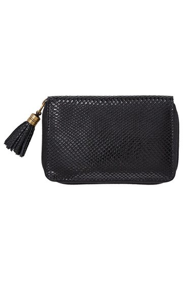 LUCA & MARC LEATHER WALLET W TSSL, BLACK | Tuggl