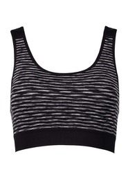 LMA ACTIVE Seamfree Spacedye Stripe Crop
