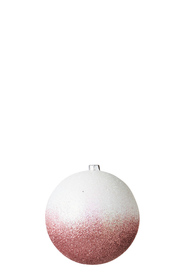 SOREN Frosted 2 Tone Hanging Bauble Rose Gold