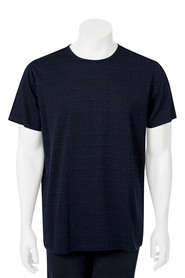 URBAN JEANS CO Short Sleeve Crew Neck Jacquard Tshirt