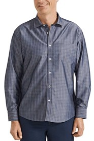 BACK BAY Classic-Fit Graph Check Soft Touch Shirt