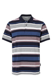 BRONSON ALL OVER STRIPE JERSEY POLO