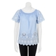 KHOKO COLLECTION Short Sleeve Peasant Blouse With Embroidery