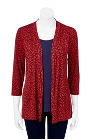 SAVANNAH KATHRYN 2IN1 CARDI TOP HST3010