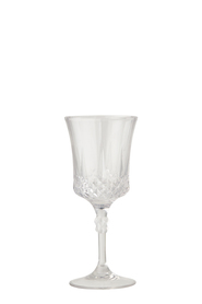 SHAYNNA BLAZE Diamond Wine Glass Clear