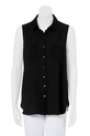 KHOKO SMART Sleeveless Button Detail Shirt