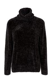KHOKO COLLECTION Turtle Neck Chenille Pullover