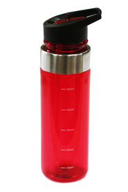 SMITH & NOBEL  Flip top drink bottle 600ml red