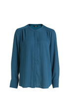 SIMPLY VERA VERA WANG Core Pleat Blouse With Concealed Button