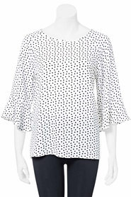 KHOKO SMART Peplum Sleeve Blouse In Pebble Crepe