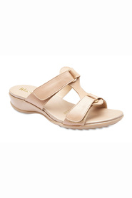 WIDE STEP Coast Adjustable Double Strap Leather Slide