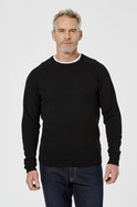 MENS DALTON LAMBSWOOL BELND CREW NECK KNIT