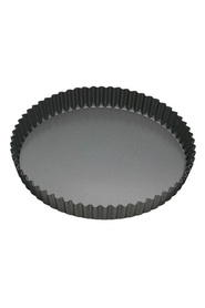 SMITH & NOBEL Professional Non Stick Bakeware Loose Base Round Flan Tin