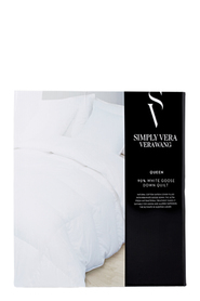 SIMPLY VERA VERA WANG 90/10 Goose Down Quilt Queen Bed