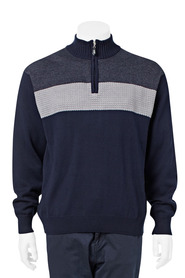 BRONSON Chest Stripe Half Zip Knit