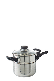 SMITH & NOBEL Traditions Stainless Steel 2 Tier Steamer Set 16cm