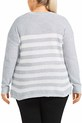 KHOKO MARIA STRIPE JUMPE, CLOUD-GREY, 20