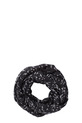 KHOKO SCARF SNOOD DOVES, BLK-WHT, NS