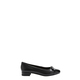 HUSH PUPPIES Delle Leather Toe Cap Ballet With Bow