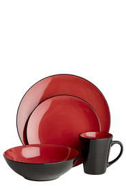 SOREN Osaka 16pc Red Dinnerset