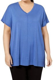 KHOKO PLUS VEE NECK TUNIC WITH SEAM DETAIL