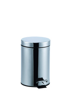 STORE & ORDER Round Pedal Bin 3L Stainless Steel