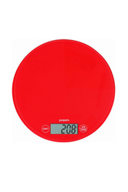 PROPERT 5Kg Glass Scale Round Red
