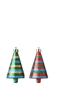 SOREN Classic Striped Tree Ornament 4 Pack