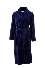 SASH & ROSE Textured Fleece Gown