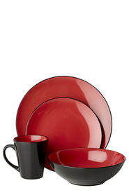 SOREN Mikado 16 Piece Dinner Set Red
