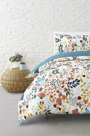 MOZI Meadow Cotton Percale Quilt Cover Set Queen Bed