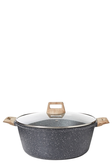 SMITH & NOBEL Grey Granite Die Cast Casserole 32Cm | Tuggl
