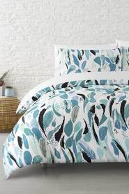 MOZI Pianna Cotton Quilt Cover Set Queen Bed