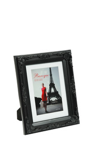 LIFESTYLE BRANDS Baroque 6X8inch Black Photo Frame