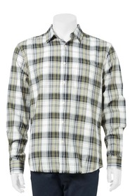 BRONSON Long Sleeve Herringbone Check Shirt