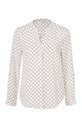 KHOKO COLLARLESS PRINT SHIRT, DIAMOND, 8