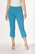 CROP BENGALINE PANT WITH JEWEL