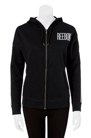 REEBOK Zip Through Cotton Fleece D Hoodie