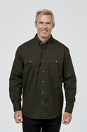 Cody Long Sleeve Cotton Twill Shirt with Double Pockets