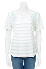 SAVANNAH Textured Embroidered Tee