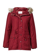 KHOKO COLLECTION Faux Fur Trim Parka