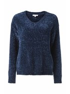 KHOKO COLLECTION Vee Neck Chenille Pullover Jumper