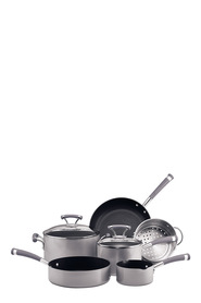 CIRCULON 6PC CONTEMPO ALUMINIUM COOKSET SILVER