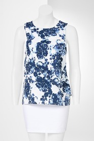SIMPLY VERA VERA WANG Draped Floral Overlay Top