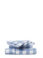 Gingham Print Flannelette Sheet Set Queen Bed