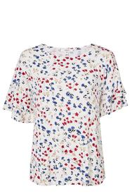 KHOKO SMART Printed Jersey Top With Fluted Sleeves