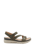 HUSH PUPPIES Hydra Leather Strap Sandal