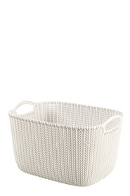 CURVER Knit Rectangular Basket Cream Large