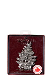SEAGULL Christmas Tree Pewter Ornament